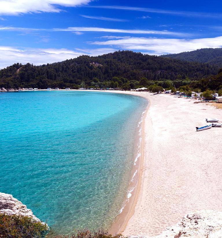 Slika plaze Jerisos Grcka